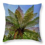 Te Puia Palm Tree Throw Pillow