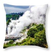 Te Whakarewarewa Throw Pillow