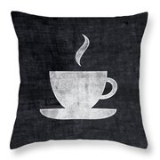 Tea And Coffee- Art By Linda Woods Throw Pillow