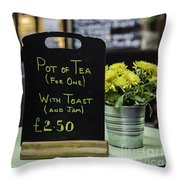 Tea And Toast For One Throw Pillow