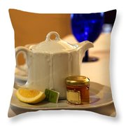 Tea At The Ritz Throw Pillow