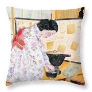 Tea Ceremony Throw Pillow