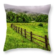 Tea Creek Meadow And Buttercups Throw Pillow