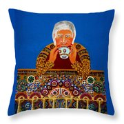 Tea Cup Reader Throw Pillow