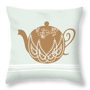 Tea Party Invitation Throw Pillow