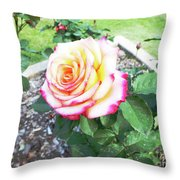 Tea Rose For A Lady Throw Pillow