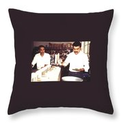 Tea Taster, Calcutta Throw Pillow