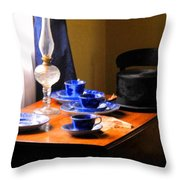 Tea Time Composition Throw Pillow