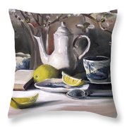 Tea With Lemon Throw Pillow