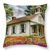 Teacher - The School House Throw Pillow by Mike Savad