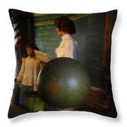 Teaching Globe Throw Pillow