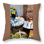 Teagun Rose Teaparty 5 Throw Pillow
