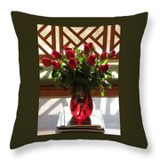 Teak And Roses Throw Pillow