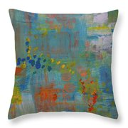Teal Abstract, A New Look Again Throw Pillow