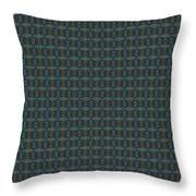 Teal Diamond Crackle From Sunset Strip Throw Pillow