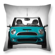 Teal Mini Coopre Throw Pillow
