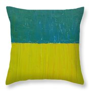 Teal Olive Throw Pillow