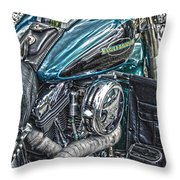 Teal Wonder Throw Pillow