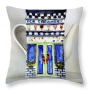 Teapot Delusional Throw Pillow