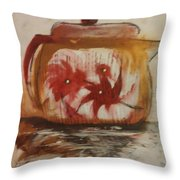 Teapot Throw Pillow by Gregory Dallum