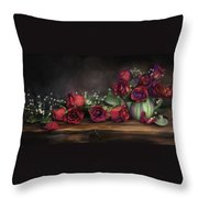 Teapot Roses Throw Pillow