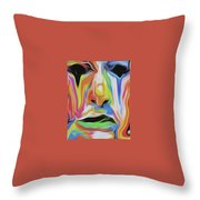 Tearful Clown Throw Pillow