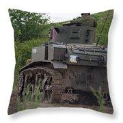Tearing It Up - M3 Stuart Light Tank Throw Pillow