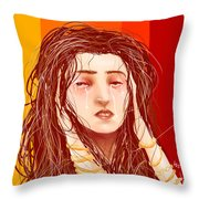 Tears And Fake Gold Throw Pillow