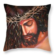 Tears From The Crown Of Thorns Throw Pillow