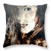 Tears In The Rain Iv Throw Pillow