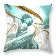 Teary Dreams Abstract Throw Pillow