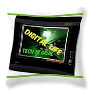 Tech Is Goal Throw Pillow