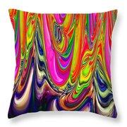Technicolor Magma Throw Pillow