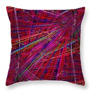 Technicolor Pick Up Stix Throw Pillow