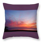 Technicolor Sunrise 2 Delray Beach Throw Pillow