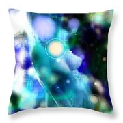 Techno Nude Throw Pillow