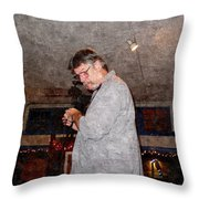 Ted Finn Throw Pillow
