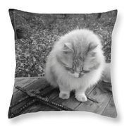 Ted In Black And White Throw Pillow