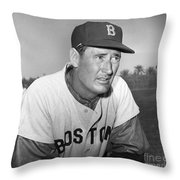 Ted Williams (1918-2002) Throw Pillow