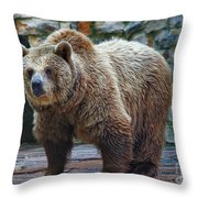 Teddy Bear Alive Throw Pillow