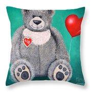 Teddy Bear Eli Throw Pillow