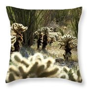 Teddy Bear Forest Throw Pillow