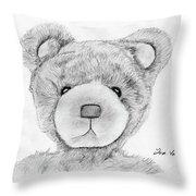 Teddybear Portrait Throw Pillow