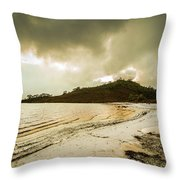 Teds Beach At Dusk Throw Pillow