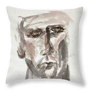 Teen Boy's Portrait Throw Pillow
