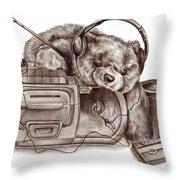 Teenage Bear Throw Pillow