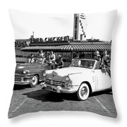 Teens At A Drive In 2 Throw Pillow