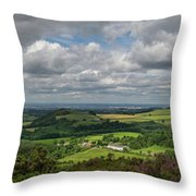 Tees Plain And Roseberry Topping Throw Pillow
