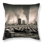 Teesside Steelworks 1 Throw Pillow