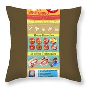 Teeth Whitening- Give Your Teeth The Care They Need Throw Pillow